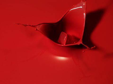 Splashing Droplet「Red liquid splashing」:スマホ壁紙(11)