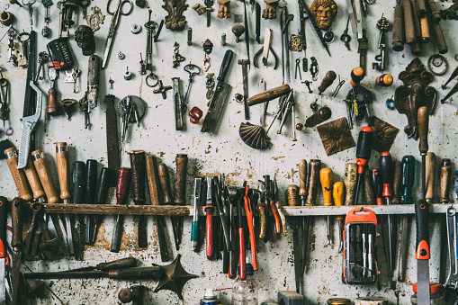Carpentry「Background of Working Tools」:スマホ壁紙(16)