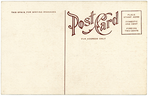 Postcard「Background image of a blank beige vintage back of a postcard」:スマホ壁紙(15)