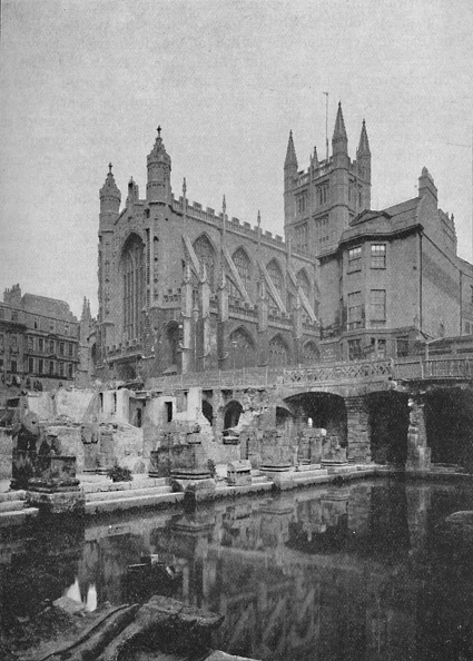 Roman Bath「The Old Roman Bath At Bath Before Restoration 1902」:写真・画像(10)[壁紙.com]