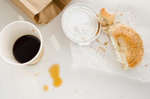 Take Out Food「Coffee and bun, studio shot」:スマホ壁紙(17)