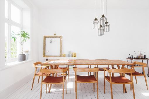 Dining Table「Scandinavian Design Dining Room Interior」:スマホ壁紙(1)