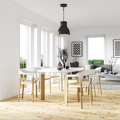 Square - Composition「Scandinavian dining room interior」:スマホ壁紙(19)