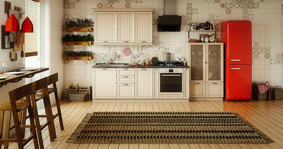 Domestic Kitchen「Scandinavian Domestic Kitchen and Dining Room」:スマホ壁紙(11)