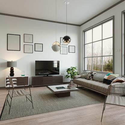 Plain「Scandinavian Style Living Room Interior」:スマホ壁紙(15)