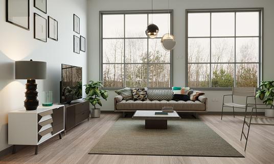 European Culture「Scandinavian Style Living Room Interior」:スマホ壁紙(16)