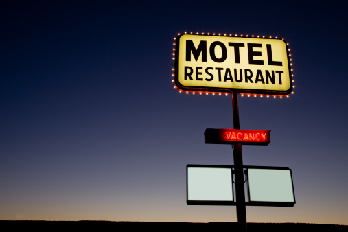 Motel「Motel Neon Sign Twilight USA」:スマホ壁紙(5)