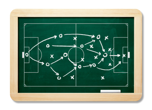 Sports Team「Game Plan On Blackboard With Clipping Path」:スマホ壁紙(1)
