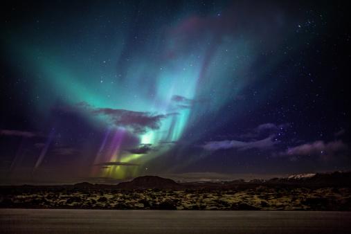 Volcanic Rock「Aurora Borealis or Northern Lights, Iceland」:スマホ壁紙(9)