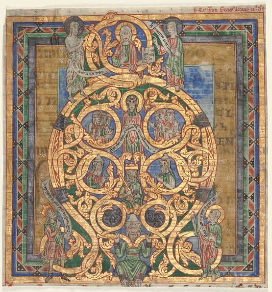 Tree「Cutting From An Antiphonary: Initial A[Spiciens A Longe]: The Tree Of Jesse」:写真・画像(1)[壁紙.com]