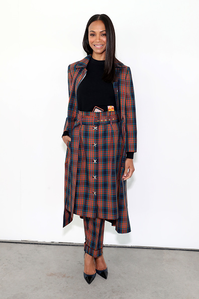 Zoe Saldana「Tory Burch Fall Winter 2019 Fashion Show - Backstage」:写真・画像(3)[壁紙.com]