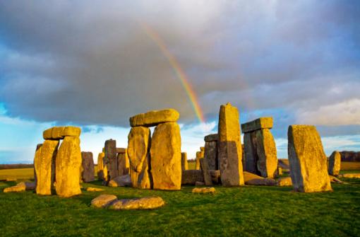 Ancient Civilization「Rainbow over Stonehenge」:スマホ壁紙(2)