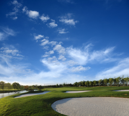 Sand Trap「Beautiful Golf Course With Cloudscape」:スマホ壁紙(14)