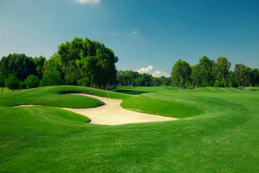 Golf「Beautiful golf course with sand trap」:スマホ壁紙(6)