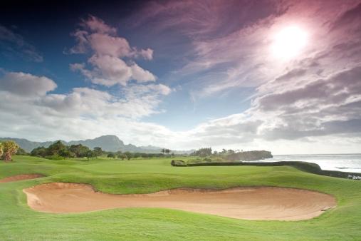 Putting Green「Beautiful Golf Course Scenic in Hawaii」:スマホ壁紙(13)