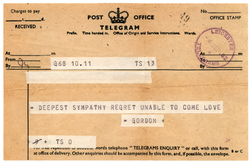 Printout「Sympathetic British telegram 1962」:スマホ壁紙(14)