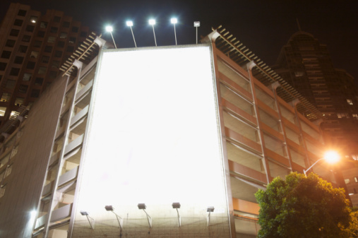 Commercial Sign「empty/blank advertising space lighted」:スマホ壁紙(9)