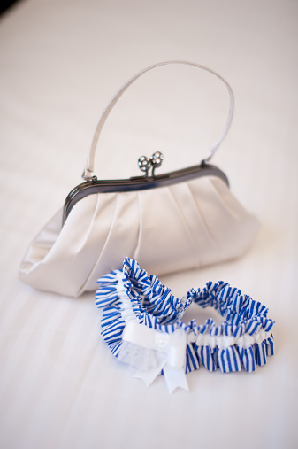 Clutch Bag「Bridal clutch & blue garter」:スマホ壁紙(1)