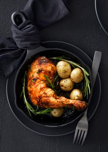 Turkey - Bird「Chiken leg and potatoes in a skillet」:スマホ壁紙(17)