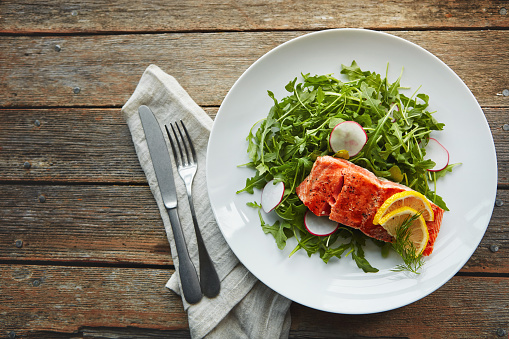 Salmon - Seafood「It's both nutritious and delicious」:スマホ壁紙(9)