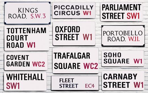 Oxford Street - London「London street signs」:スマホ壁紙(7)