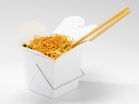 Take Out Food「Chinese Chow Mein with Chopsticks」:スマホ壁紙(2)
