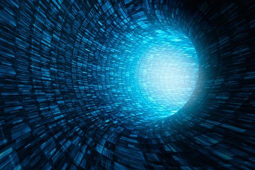 Big Data「Abstract information tunnel」:スマホ壁紙(17)
