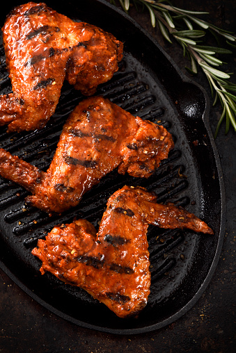 Chicken Wing「Barbecue grilled chicken wings in a griddle」:スマホ壁紙(2)