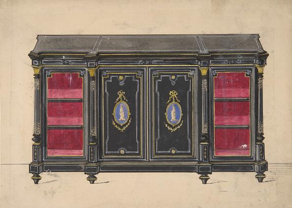 Furniture「Cabinet Design With Porcelain Plaques And Red Interior」:写真・画像(14)[壁紙.com]