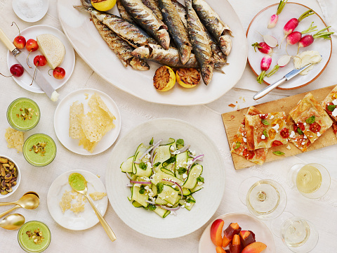 Seafood「Summer Table Scape Horizontal」:スマホ壁紙(2)