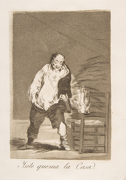 Etching「Plate 18 From Los Caprichos:And His House Is On Fire (Ysele Quema La Casa)」:写真・画像(19)[壁紙.com]