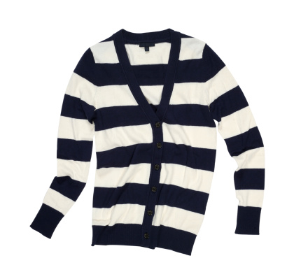 Sweater「Striped cardigan in black and white」:スマホ壁紙(18)