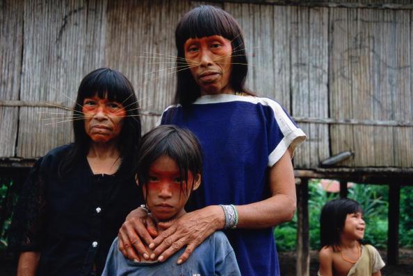 Animal Whisker「Peruvian Amazon, women and children (4-9) of Matses tribe」:写真・画像(7)[壁紙.com]