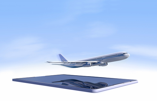 Commercial Airplane「tablet computer with airplane」:スマホ壁紙(5)