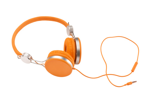 Orange Color「Headphones (Clipping Path)」:スマホ壁紙(2)