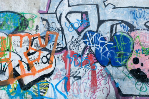 Graffiti「Colorful graffiti on a cement wall」:スマホ壁紙(9)