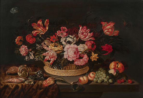 Painting - Activity「Basket Of Flowers And Shells」:写真・画像(16)[壁紙.com]