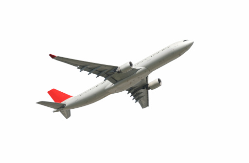 Commercial Airplane「Airliner on white, climbing」:スマホ壁紙(2)