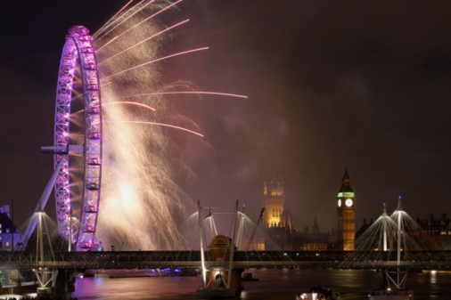 花火「Fireworks over Parliament on New Years Eve」:スマホ壁紙(8)