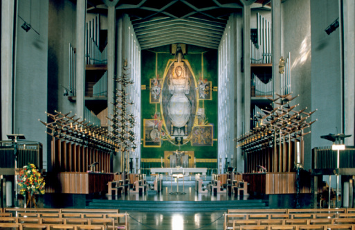 Cathedral「Fantastic interior of Coventry Cathedral」:スマホ壁紙(12)