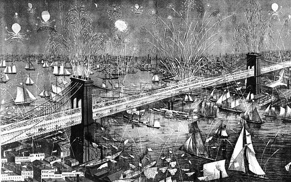 Brooklyn Bridge「Opening Celebration Of The Brooklyn Bridge」:写真・画像(2)[壁紙.com]