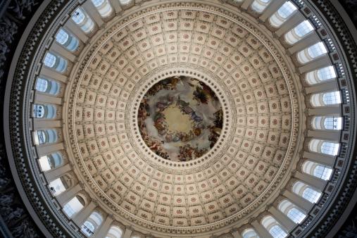 Fresco「Inside Congress Capitol Building Dome, Washington DC」:スマホ壁紙(12)
