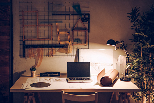 Working「Office interior」:スマホ壁紙(2)