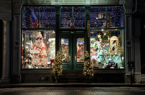 Christmas Decoration「Christmas store window display」:スマホ壁紙(8)