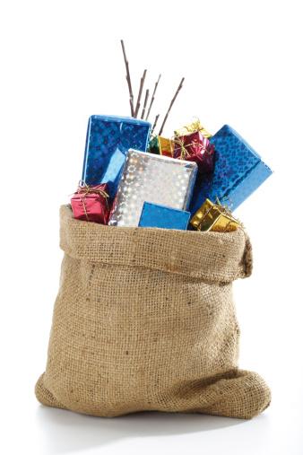 Christmas Paper「Christmas santa sac with presents」:スマホ壁紙(6)