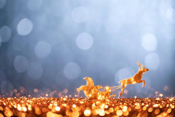 Christmas Santa Sleigh and Reindeer - Backgrounds Defocused:スマホ壁紙(壁紙.com)