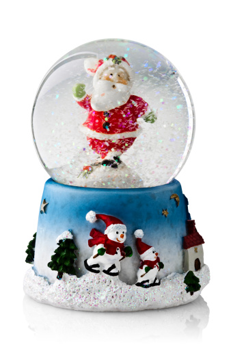 Kitsch「Christmas snow globe containing Father Christmas」:スマホ壁紙(14)