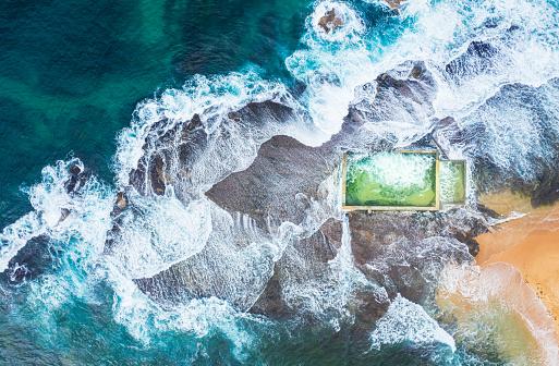 Standing Water「Tidal Pool, Northern Beaches, Sydney, New South Wales, Australia」:スマホ壁紙(0)