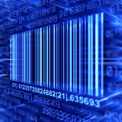 Bar Code Reader「A blue barcode on a blue background」:スマホ壁紙(5)