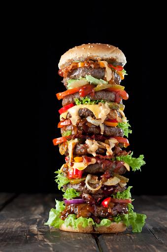 Bun - Bread「Extra large hamburger」:スマホ壁紙(13)
